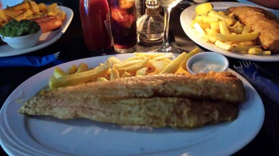 Peggotty's Finest Fish & Chips: Very large portions,  well cooked!