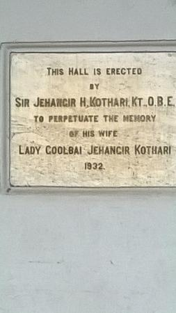 ‪Lady Jehangir Kothari Memorial Hall‬