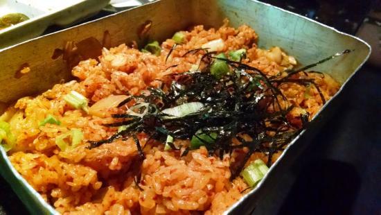 Hasil gambar untuk fried rice kimchi on lunch box