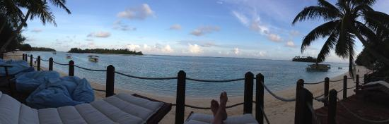 Muri Beachcomber: view from the deck