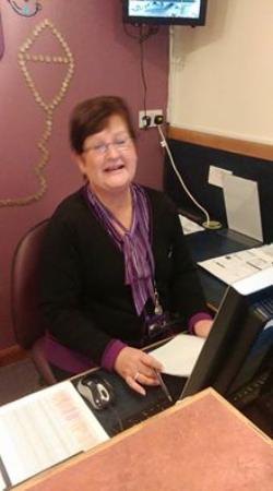 Premier Inn Glasgow East Hotel: Karen..The Receptionist...Always Smiling!!!