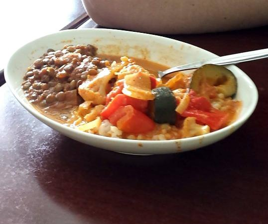 The Forest Cafe: lentil marsala, thain veggies and rice