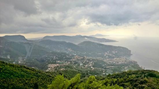 Funivia del Monte Faito: The Sorrento Peninsula with Capri in the distance
