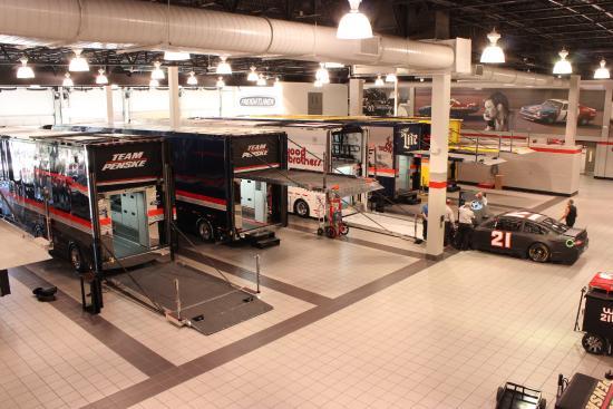 Penske Racing South Facility: Hauler area