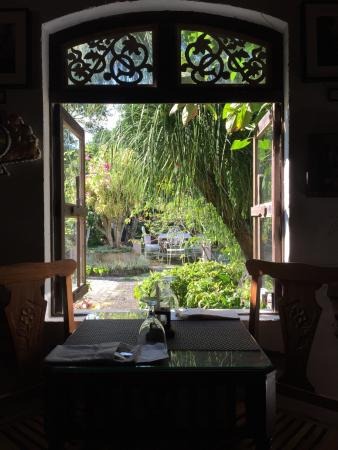 Through the Dining area window