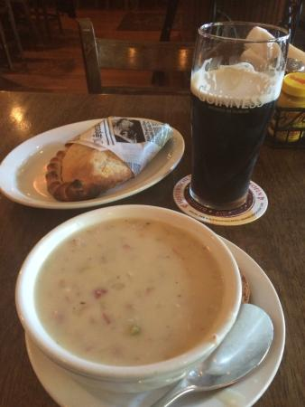 JK O'Donnell's: Patsy, corned beef soup, and a Guiness