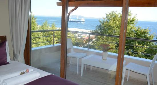 Остров Мармара, Турция: Otel Ada Palas,Deniz Manzaralı Double+Tek Yataklı Oda