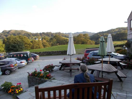 Three Shires Inn: From the raised terrace