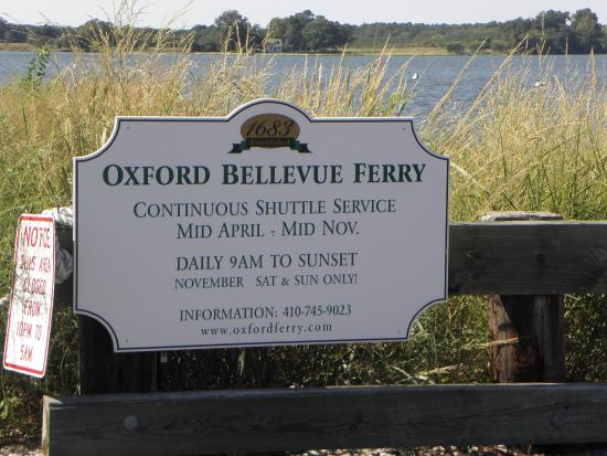Oxford, MD: The details of the Ferry