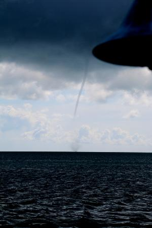 Bud N' Mary's Fishing Lodge: Waterspout from the Marina deck