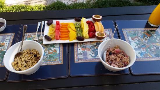 Forsyth Bed & Breakfast: The Morning Breakfast Fruit Plate