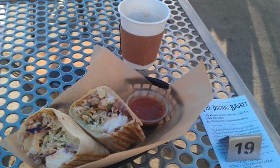 The Picnic Basket: Breakfast Burrito and almost finished coffee