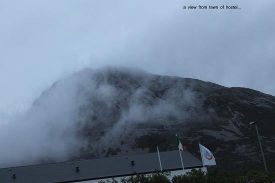 View of Mt Errigal from Hostel