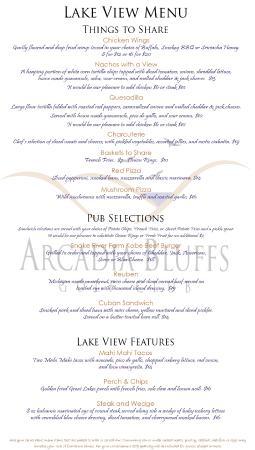 Arcadia, MI: Lake View Menu