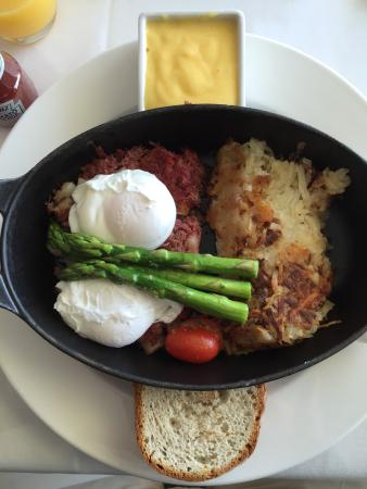 Chatham Bars Inn Resort - Dining: Perfect Corned Beef Hash with Poached Eggs.  PERFECT