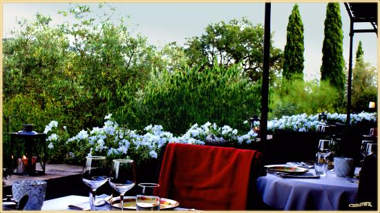 """Die Terrasse des Restaurant """"Bello Visto"""" Gassin"""