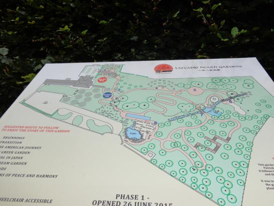 Lafcadio Hearn Japanese Gardens: Map