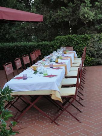 Montespertoli, Italia: Abendessen
