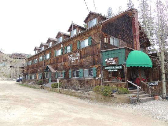 The Rapids Lodge main building and restaurant