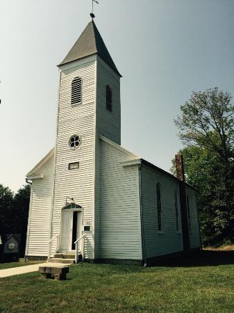1935 Santa Statue: Historic church