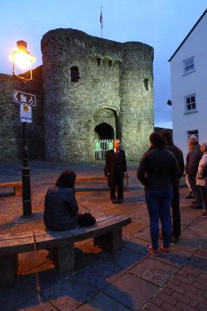 Creepy Carmarthen - The Spooky Town Tour: Outside Carmarthen Castle.