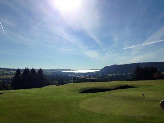Pitlochry Golf Club: View down the glen