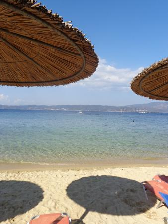 Ammouliani, กรีซ: View from the beach bar