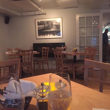 The Waterhouse: Empty Tables.