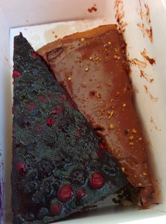 cheese cake veg mirtilli e chocolate