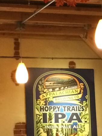 Appalachian Brewing Company: AD in the bar/pub