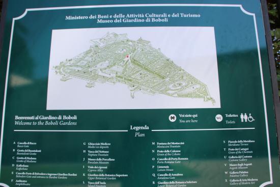 Map Picture Of Giardino Di Boboli Florence Tripadvisor
