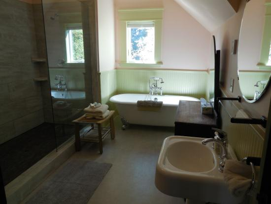 3rd floor suite bathroom. two-person shower. - picture of evermore Two Person Shower Design
