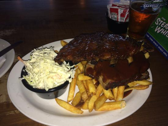 Butcher's Block BBQ: BBQ Ribs and Brisket with Fries and Coleslaw