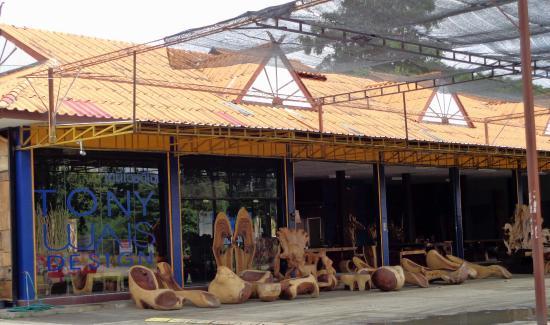 Natural wood furniture gallery. - Picture of Baan Tawai Village