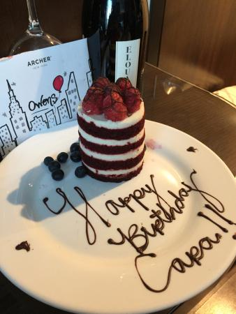 Surprise Birthday Cake Delicious Picture of Archer Hotel New