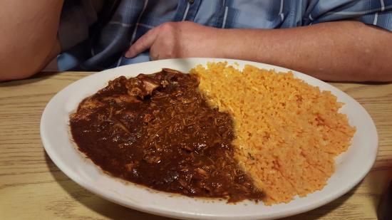 Taco Mexico Restaurant: Chicken Mole' and Rice