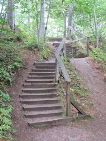 Chutes Coulonge: plenty of stairs from one viewpoint to the next