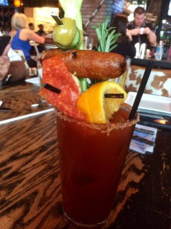Bloody Mary with that delicious sausage! - Picture of Guy Fieri\'s ...