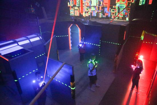 Laserforce - the ultimate laser game: Searching the arena!