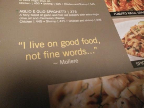 Food Quote Picture Of California Pizza Kitchen Mumbai Tripadvisor