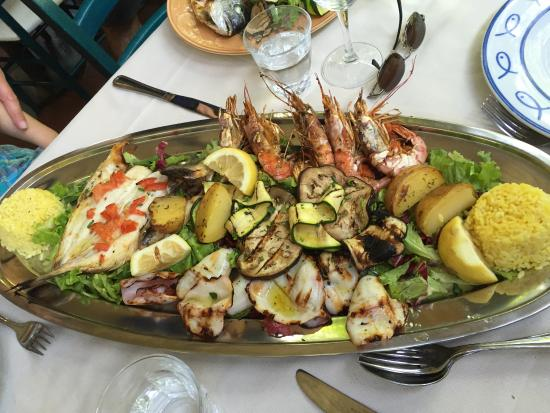 Antica Posta: Grilled fish and seafood for two