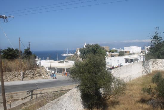 Magas Hotel: View from hotel terrace looking towards the town