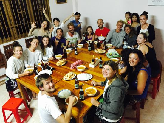 funny family dinner picture of mr peace backpacker s house da