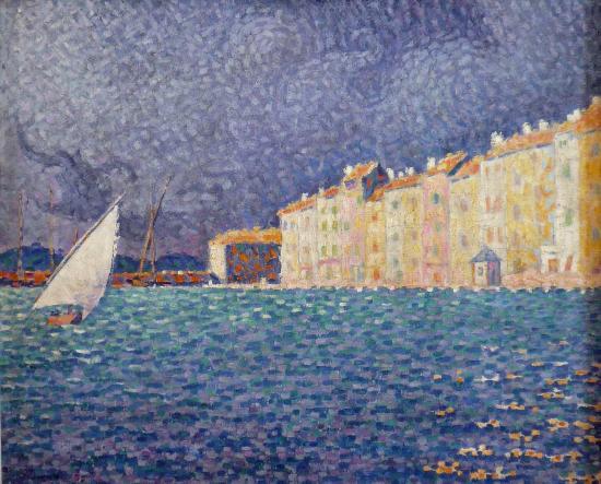 Musée de l'Annonciade (Musée de Saint-Tropez) : Gewitter über St Tropez von Signac