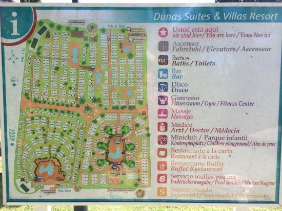 Plan du domaine Picture of Dunas Maspalomas Resort Maspalomas