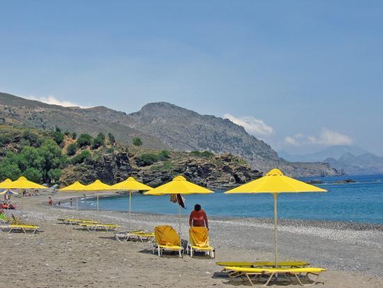 Rodakino, Grækenland: Het strand