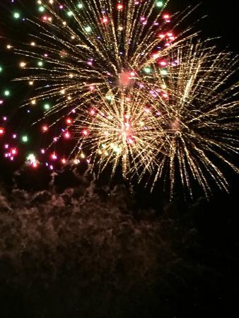 Le Rocher Hotel: Fuochi d'artificio di Ferragosto dalla terrazza