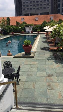 Lovely Swimming Pool And Never Packed Picture Of Raffles Hotel Singapore Singapore Tripadvisor