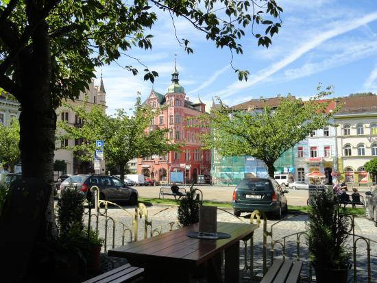 Ceska Koruna: Terrasse am Markt