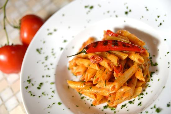 Pane Vino Restaurant Pasta Dishes Includ The Traditional Italian Penne With Y Tomato Sauce